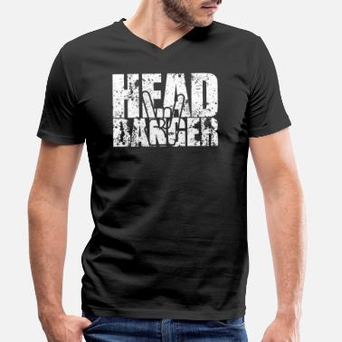 Headbanger The headbanger - Men's Organic V-Neck T-Shirt