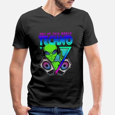 Acid House Techno Out of this World Alien Alien - Men's Organic V-Neck T-Shirt