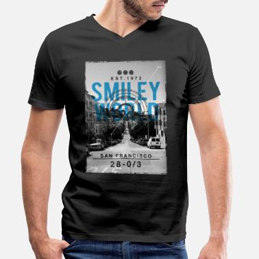Smileyworld 'San Francisco' - T-shirt med V-ringning herr