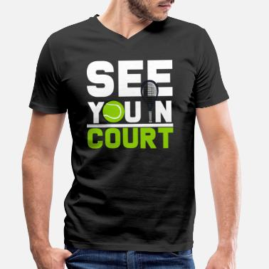 Court tennis court - Men's Organic V-Neck T-Shirt