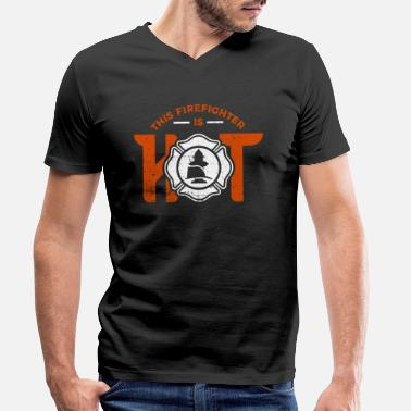 Fire Department Firefighter firefighter - Men's Organic V-Neck T-Shirt