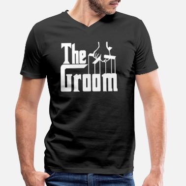 Stag Groom Stag Party. Gifts for The Groom. Husband to be. - Men's Organic V-Neck T-Shirt