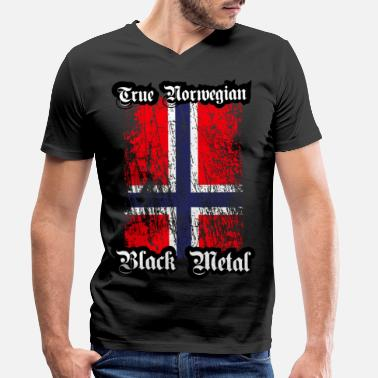 Metal Trve / True Norwegian Black Metal - T-shirt med V-ringning herr