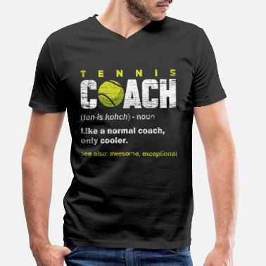 Coach Tennis coach - Men's Organic V-Neck T-Shirt