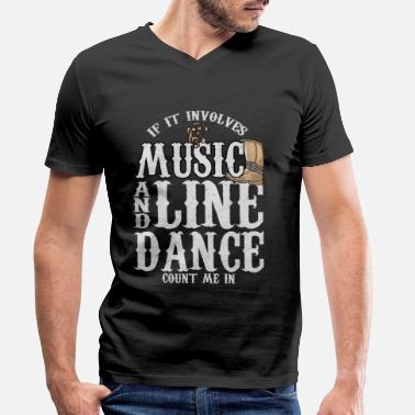 Western Riding Linedance Country Music Rodeo Western Step dance - Men's Organic V-Neck T-Shirt