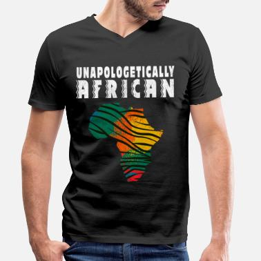Power unapologetically african - Men's Organic V-Neck T-Shirt