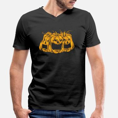 Pumpkin Scary Halloween pumpkin scary - Men's Organic V-Neck T-Shirt