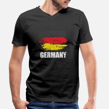 Europe Centrale Allemagne Europe occidentale - T-shirt bio col V Homme