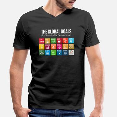 Goals The Global Goals 17 Global Goals Icons Grid - Men's Organic V-Neck T-Shirt
