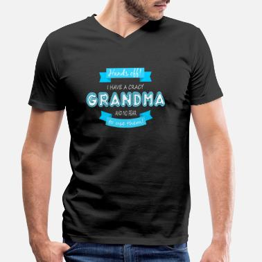 Childrens I have a crazy grandma - Men's Organic V-Neck T-Shirt