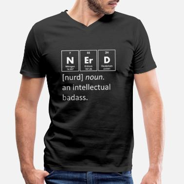 Nerd of intellectual badass chemistry - Men's Organic V-Neck T-Shirt by Stanley & Stella