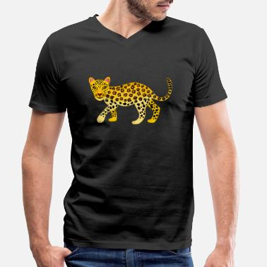 Leopard Leopard, sweet leopard, little leopard - Men's Organic V-Neck T-Shirt
