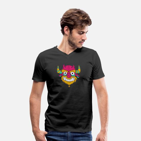Gift Idea T-Shirts - Cartoon cartoon monster - Men's Organic V-Neck T-Shirt black
