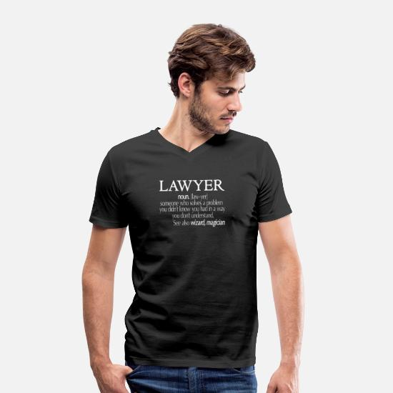Gift Idea T-Shirts - Funny Lawyer Shirt, Cool Lawyer Tshirt - Men's Organic V-Neck T-Shirt black