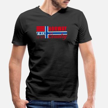 Norway Norway Norway - Men's Organic V-Neck T-Shirt