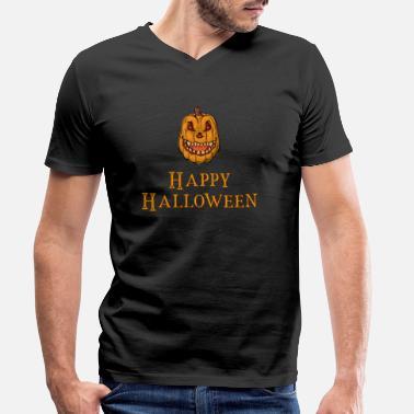 83f9a06a Happy Halloween Monster Gresskar Zombie Witch - T-skjorte med V-hals for  menn