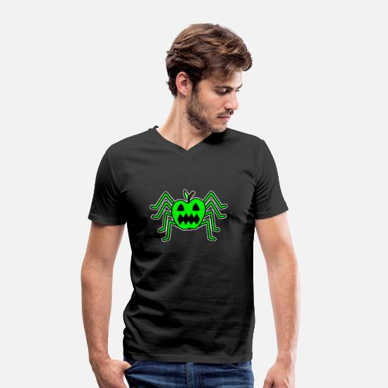 Gift Idea T-Shirts - spider - Men's Organic V-Neck T-Shirt black