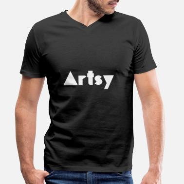 Artsy Artsy - Men's Organic V-Neck T-Shirt