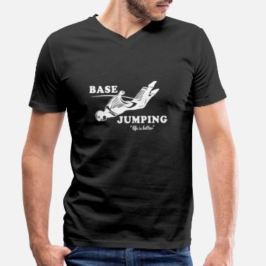 Base Jump Base Jumping - Men's Organic V-Neck T-Shirt by Stanley & Stella