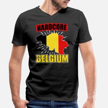 National Colours Belgium nationality national colors - Men's Organic V-Neck T-Shirt