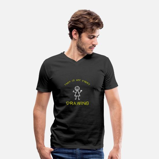 Image T-Shirts - To draw - Men's Organic V-Neck T-Shirt black