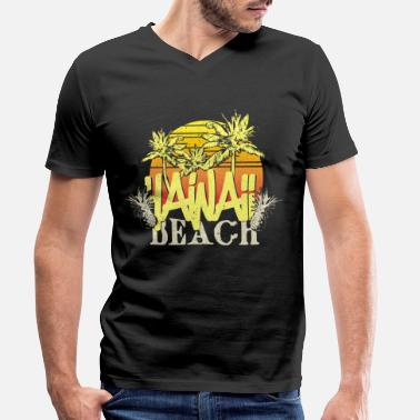 Beach Hawaii - Men's Organic V-Neck T-Shirt