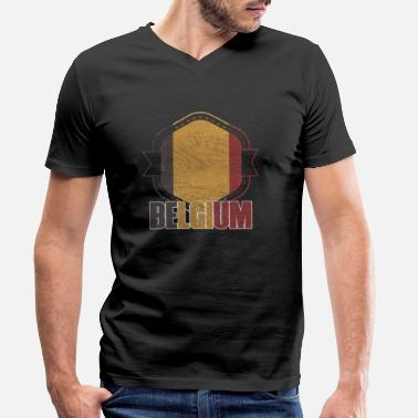 National Belgium national colors nation - Men's Organic V-Neck T-Shirt