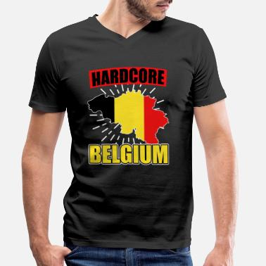 National Color Belgium nationality national colors - Men's Organic V-Neck T-Shirt