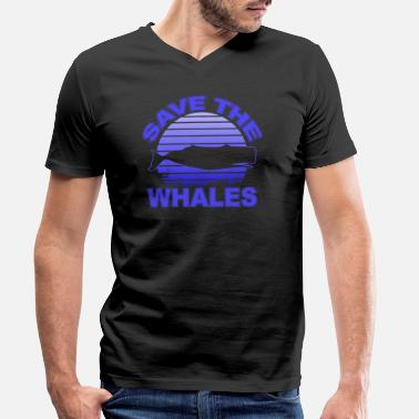 Whale Save The Whales Save the whales - Men's Organic V-Neck T-Shirt by Stanley & Stella