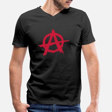 Anarchy Anarchie / Anarchy A - Men's Organic V-Neck T-Shirt