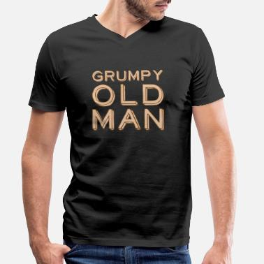 Grandad Underwear Grumpy old man - Men's Organic V-Neck T-Shirt