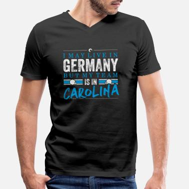 Carolina Panthers Carolina Football Fans Germany - Men's Organic V-Neck T-Shirt