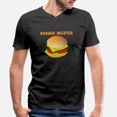 Burger Meister Burger-Meister Motiv Funny shirt for fast food - Men's Organic V-Neck T-Shirt