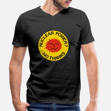 Power Smiling Sun english - Men's Organic V-Neck T-Shirt