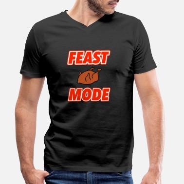 Feast Day FEAST MODE - Men's Organic V-Neck T-Shirt by Stanley & Stella
