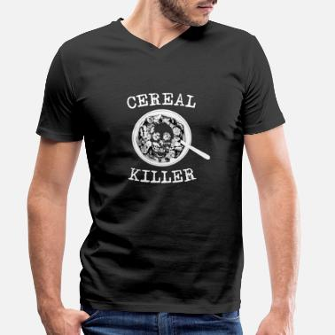 Cereal Cereal killer - Men's Organic V-Neck T-Shirt