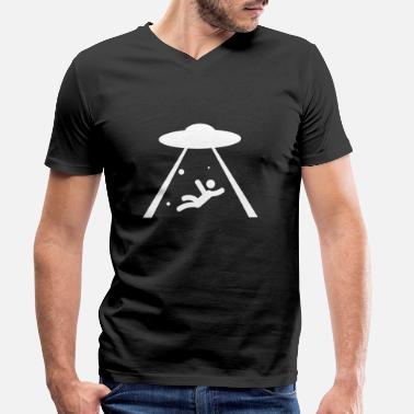 Beam Me Up Beam Me Up, Scotty - Men's Organic V-Neck T-Shirt