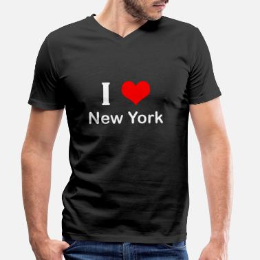 I Love New York I love New York - Men's Organic V-Neck T-Shirt
