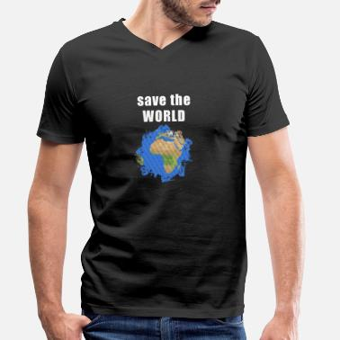 Save The World save the world - Men's Organic V-Neck T-Shirt