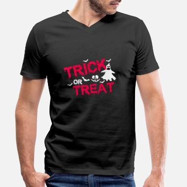 Trick Or Treat Trick or Treat - Männer Bio T-Shirt mit V-Ausschnitt