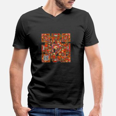 Qr Tacos - Men's Organic V-Neck T-Shirt