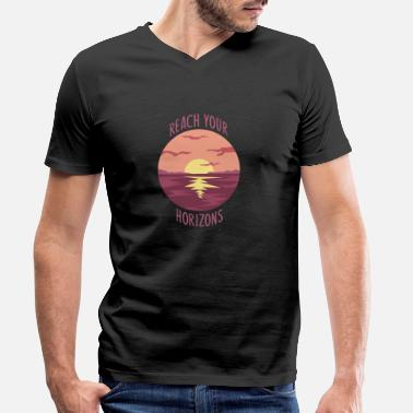 Horizon Horizon Gift Idea - Men's Organic V-Neck T-Shirt