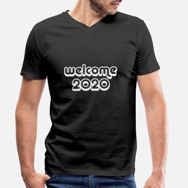 Turn Welcome 2020 New Year New Year's gift - Men's Organic V-Neck T-Shirt