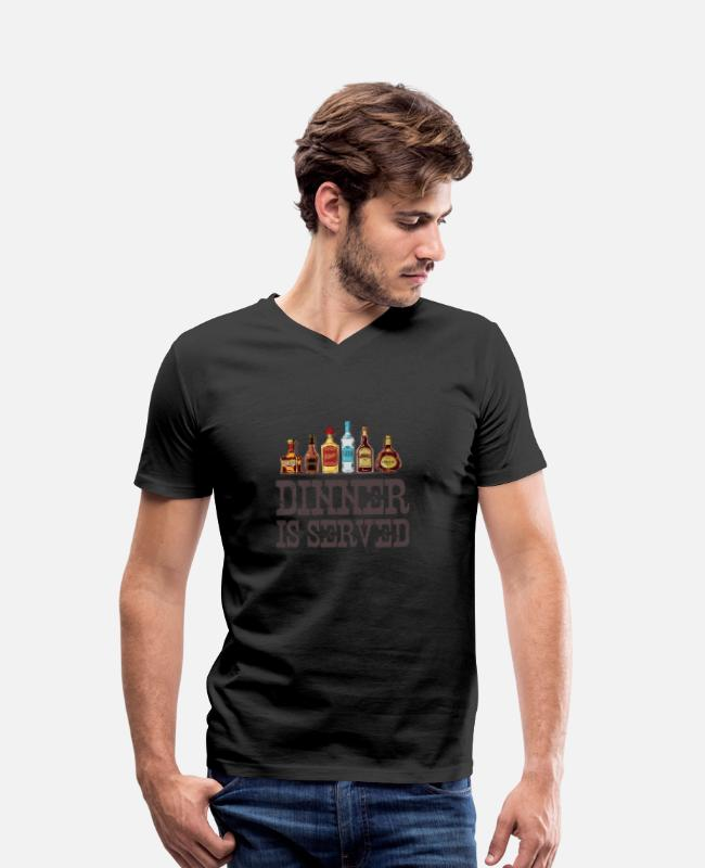 Western T-Shirts - Coctails Design Party Club Weekend Drinks Retro - Men's Organic V-Neck T-Shirt black