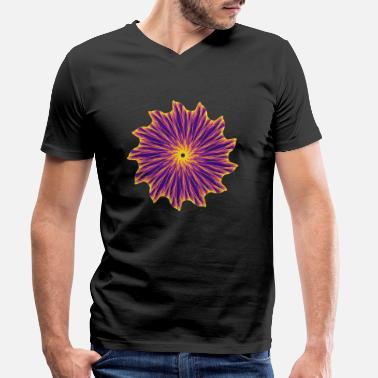Chance Chakra Mandala Mantra OM Chaos Star Circle 9112pla - Men's Organic V-Neck T-Shirt
