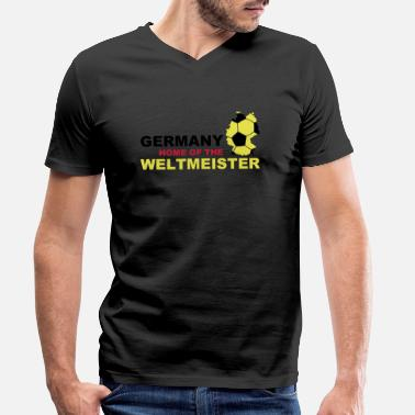 Soccer germany home of the weltmeister - T-shirt bio col V Homme