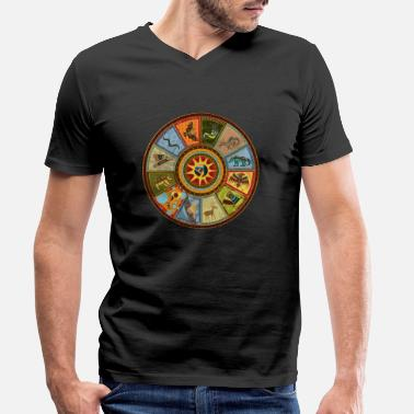 Wheel The medicine wheel of the Indians - Men's Organic V-Neck T-Shirt