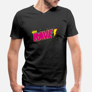 New Rave New Rave - T-skjorte med V-hals for menn