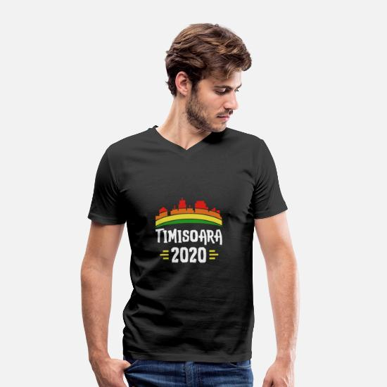 Vacation Timisoara Romania T-Shirts - City Trip 2020 Timisoara Romania - Men's Organic V-Neck T-Shirt black