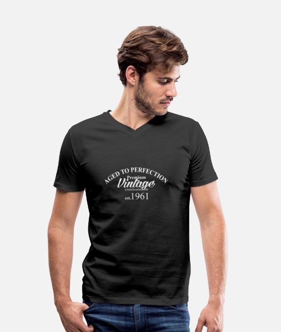 Aged To Perfection T-Shirts - aged to perfection - Men's Organic V-Neck T-Shirt black